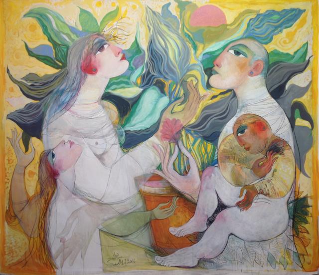 , 'Family,' 2016, al markhiya gallery