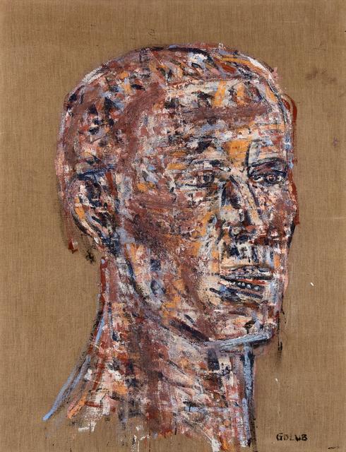 Leon Golub, 'Head of a Warrior', 1970, Painting, Oil on canvas, Hindman