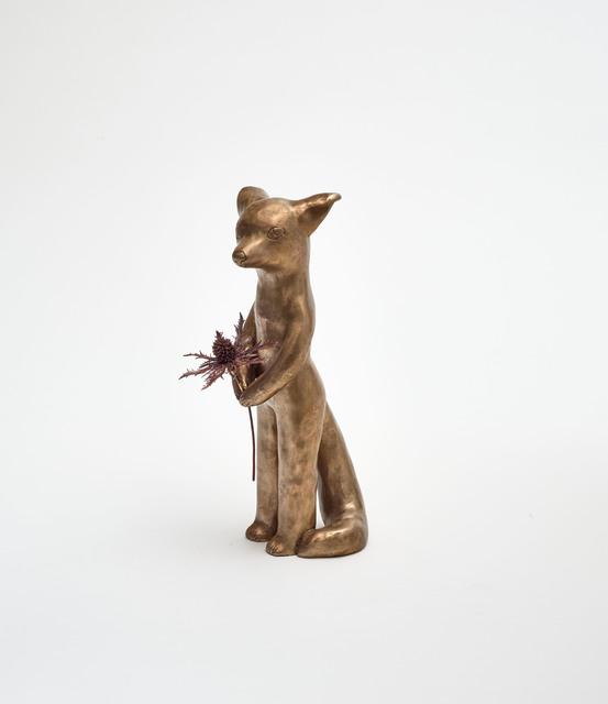 Clémentine de Chabaneix, 'Fox with thistle', 2020, Sculpture, Bronze, copper, Antonine Catzéflis