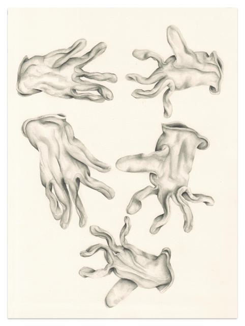 , 'Untitled (Five washed gloves),' 2016, Meyer Riegger