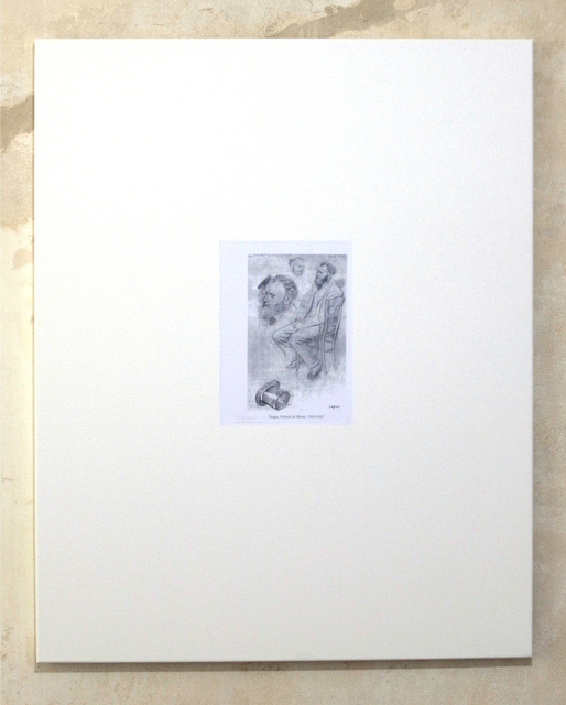 , 'Untitled (Degas, Portrait de Manet, 1864-1865),' 2012, Clages