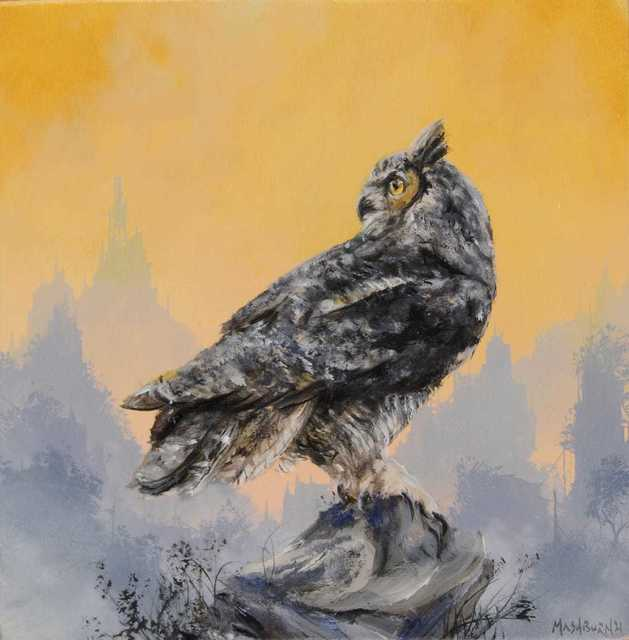 Brian Mashburn, 'Great Horned Study #1', 2021, Painting, Oil on canvas, Haven Gallery
