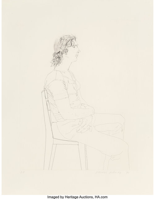 David Hockney, 'Maurice Payne', 1971, Heritage Auctions