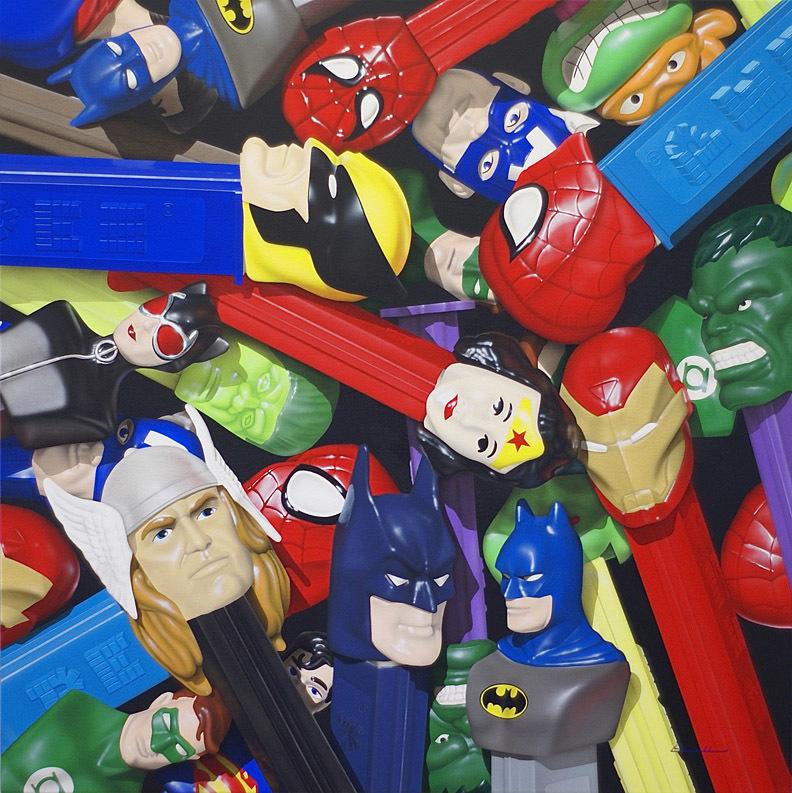 Superhero Pez Pile