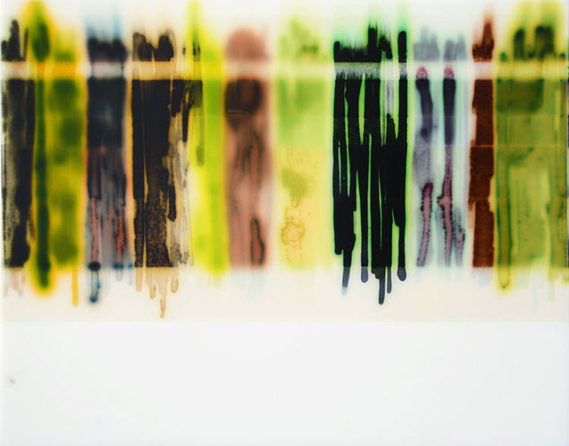 , '11 Stains (Green/Brown),' N/A, William Baczek Fine Arts