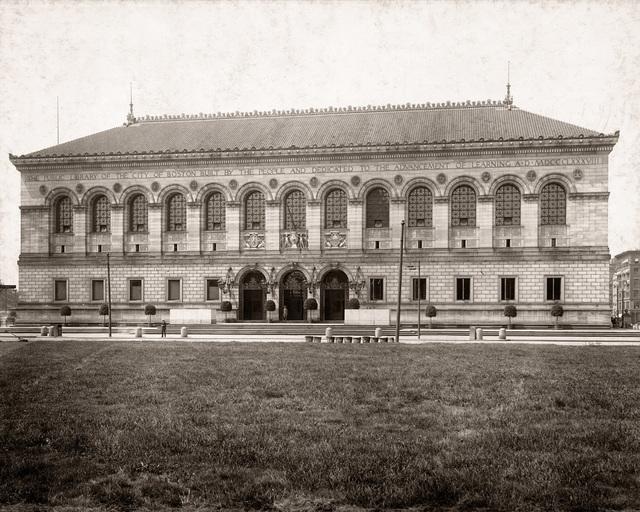 , 'Boston Public Library, Copley Square Facade,' ca. 1895, Panopticon Gallery