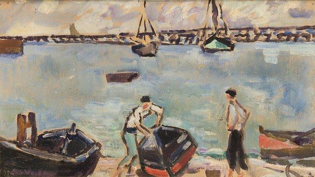 Louis Valtat, 'Les Barques au Port', 1934, Trinity House Paintings