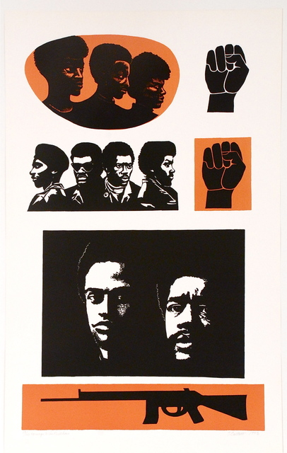 Elizabeth Catlett, 'Homage to the Panthers', 1993, Sragow Gallery