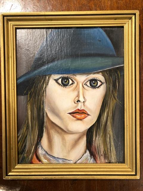 usted está Anzai Colonos  Nikas Safronov | Girl Wearing a Hat (ca. 1970) | Available for Sale | Artsy