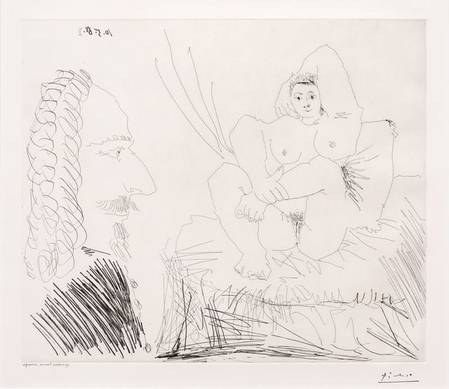 Pablo Picasso, 'Courtisane au Lit avec un Visiteur, from the 347 Series', 1968, Leslie Sacks Gallery