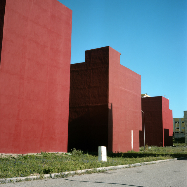 , 'Trois Immeubles Rouges, Tanger (Three Red Buildings, Tangier),' 2008, Pace/MacGill Gallery