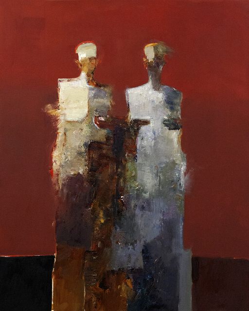 Danny McCaw, 'Reunion II', 2019, Painting, Oil on canvas (framed), Sue Greenwood Fine Art