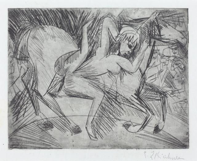 Ernst Ludwig Kirchner, 'Acrobat on a Horse (Voltigeuse zu Pferd)', 1913, National Gallery of Art, Washington, D.C.