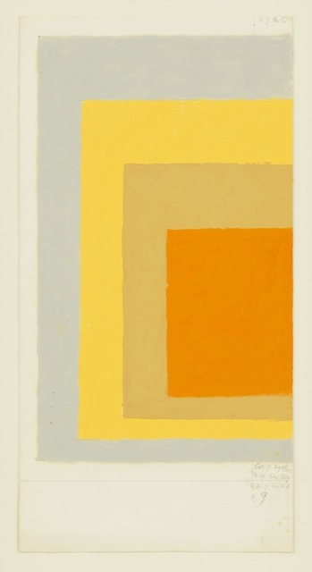 , 'Study for Homage to the Square,' , David Zwirner
