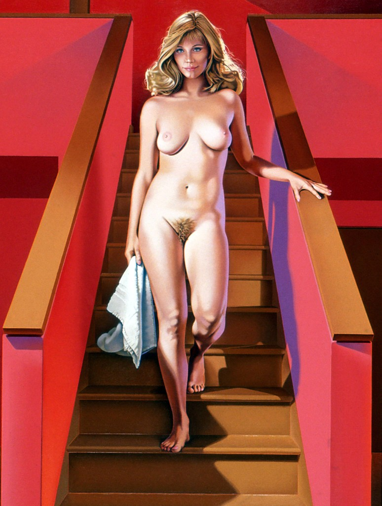 Mel Ramos, 'Nude Descending a Staircase,' 1989, Louis K. Meisel Gallery