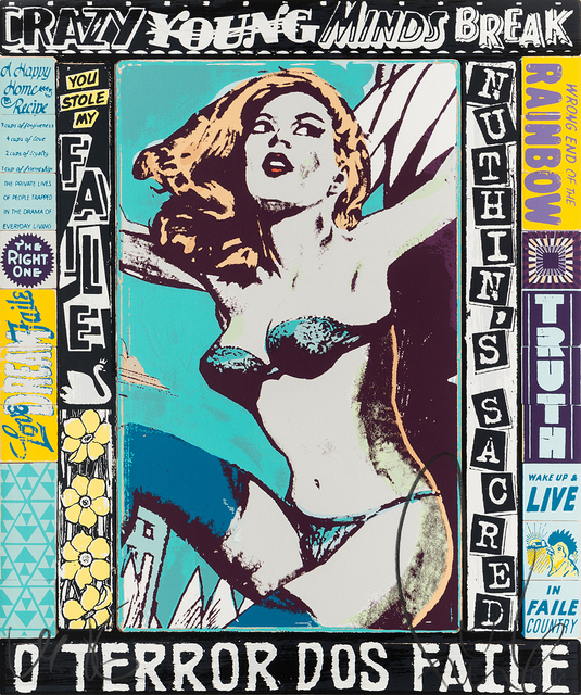 FAILE, 'The Right One, Happens Everyday', 2014, Print, Silkscreen ink on paper, Corridor Contemporary