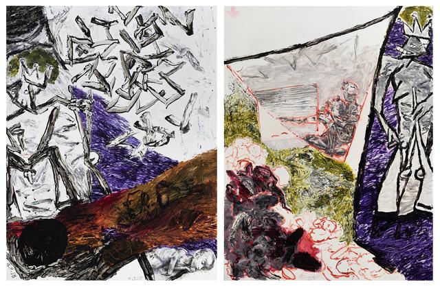 Oliver Lee Jackson, 'Diptych, 2018-19 (12.9.18) & (1.11.19)   ', Rena Bransten Gallery
