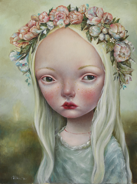 Dilka Bear, 'Litha', 2020, Painting, Oil on wood, Fousion Gallery