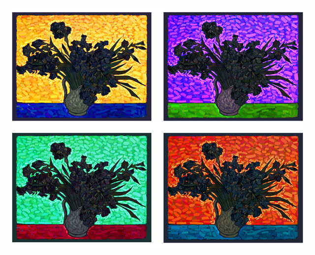 , 'Van Gogh as a pretext - Irises (Grouo No 1, 2 3 & 4),' 2014, RGR+ART
