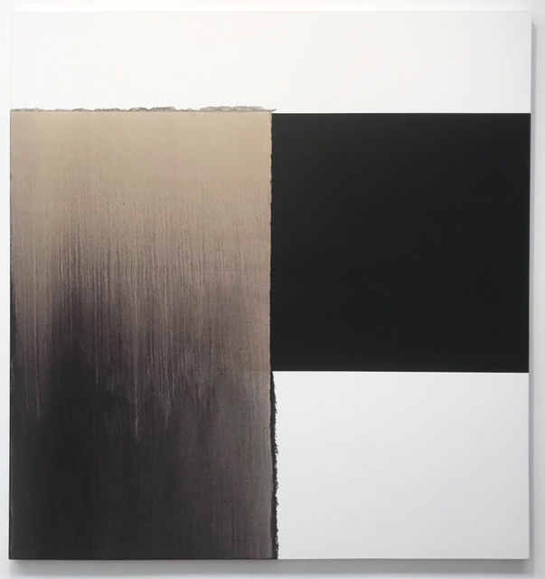 Callum Innes, 'Exposed Painting Charcoal Black Red Oxide', 2002, Fox Jensen Sydney / Fox Jensen McCrory Auckland