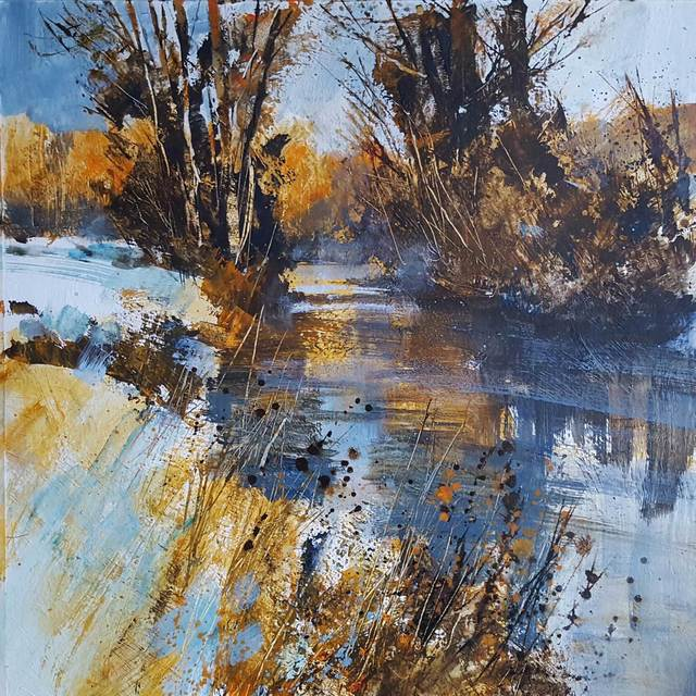 , 'Frosted Bank and Sunlit Distance,' , Mall Galleries