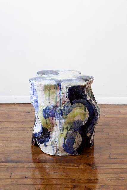 YehRim Lee, 'Money Chair I', 2019, Sculpture, Stoneware, cone 6 glaze, cone 04 glaze, resin, InLiquid