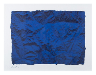 Untitled (Planetary Blue Relief, RP6) (Certified by Yves Klein Archives)