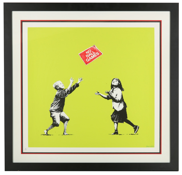 Banksy, 'No Ball Games (Green)', 2009, Chiswick Auctions
