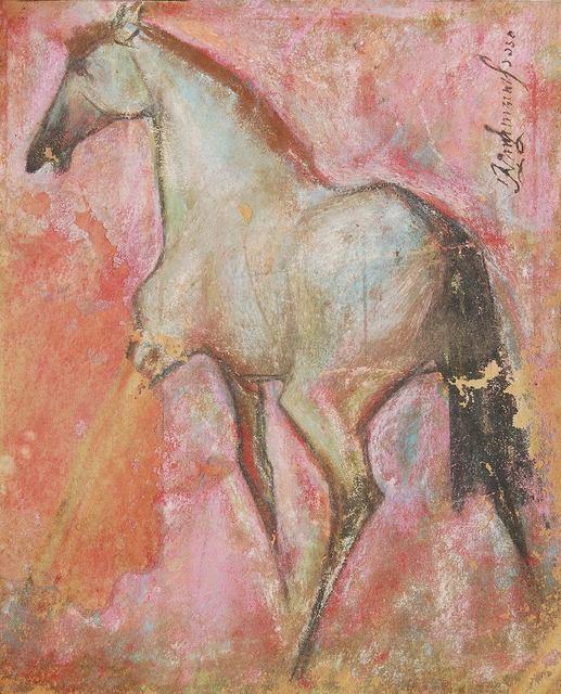 ", 'Horse II, Pastel on Sand Paper by Padma Shree Artist Sunil Das ""In STock"",' 1950, Gallery Kolkata"