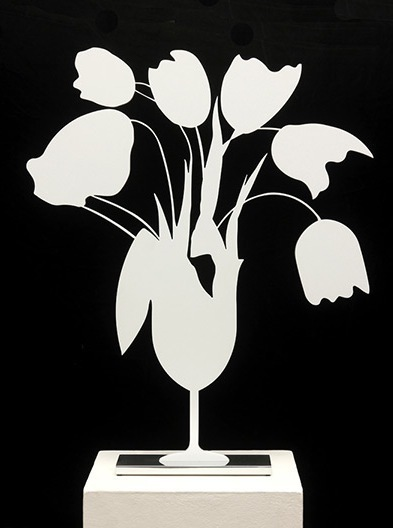 White Tulips and Vase, April 4th, 2014