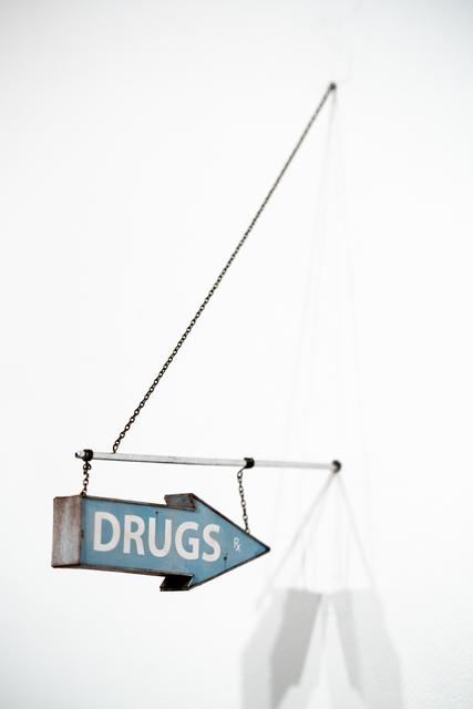 Drew Leshko, 'Drugs Sign (light blue)', 2019, Paradigm Gallery + Studio