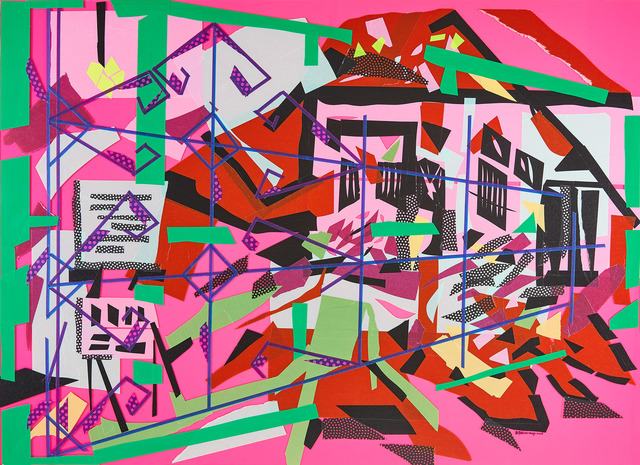 Chien-Yi Wu, 'Land of Ruins I', 2018, Painting, Mixed media  (Acrylic sheet, washi paper tape), Liang Gallery