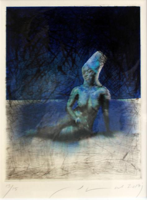 Jamal Abdul Rahim, 'Blue Human', 2017, Print, Etching on Paper, Orient Gallery