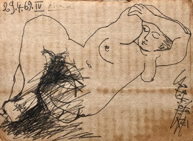 Pablo Picasso, 'Nu couché', 1969, Galeria Jordi Pascual