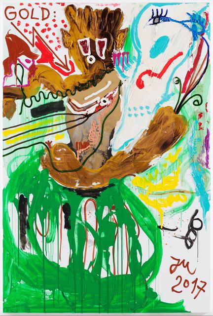 ", '""GOLDENE ERZBASIS ""K.U.N.S.T."" IM 1. POLITIKLOSEN STALL"",' 2017, Boers-Li Gallery"