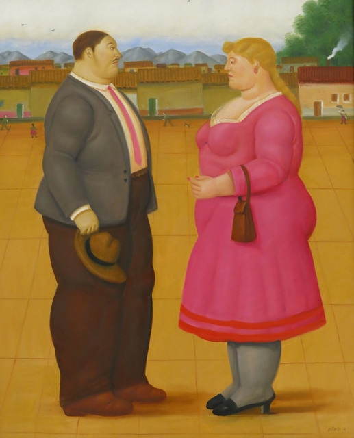 , 'Couple in the square,' 2014, Fernando Pradilla/El Museo