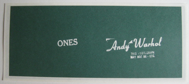 Andy Warhol, 'Artcash (Ones)', 1971, Alden Projects