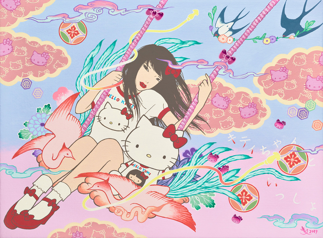 Yumiko Kayukawa, 'With Kitty Chan (Kitty Chan To Issho)	', 2019, Corey Helford Gallery