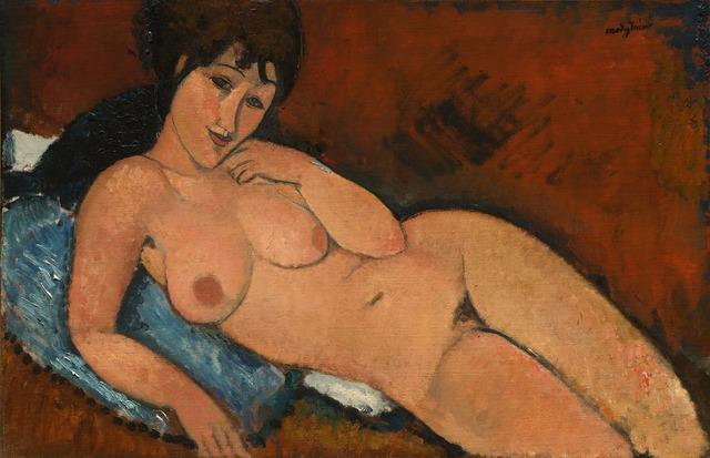 Amedeo Modigliani, 'Nude on a Blue Cushion', 1917, National Gallery of Art, Washington, D.C.