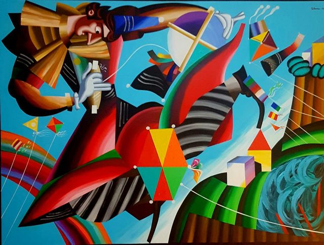 , 'Flying with Kites,' , Artscoops