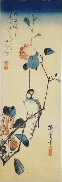 , 'Java Sparrow and Camellia ,' ca. 1830, Scholten Japanese Art