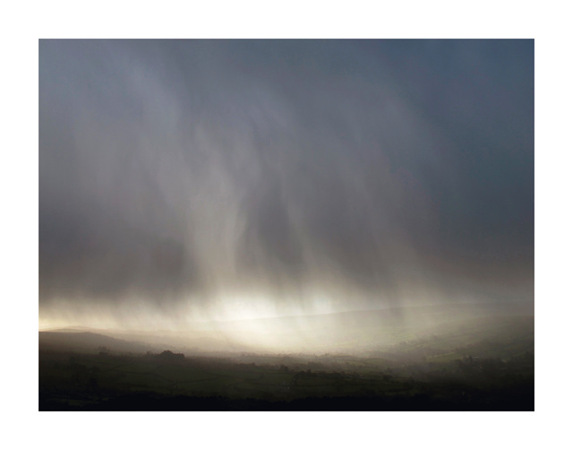 , 'Storm, in the shelter of Bone Hill Rocks, looking south down the Widecombe Valley ,' Winter 2014, HackelBury Fine Art
