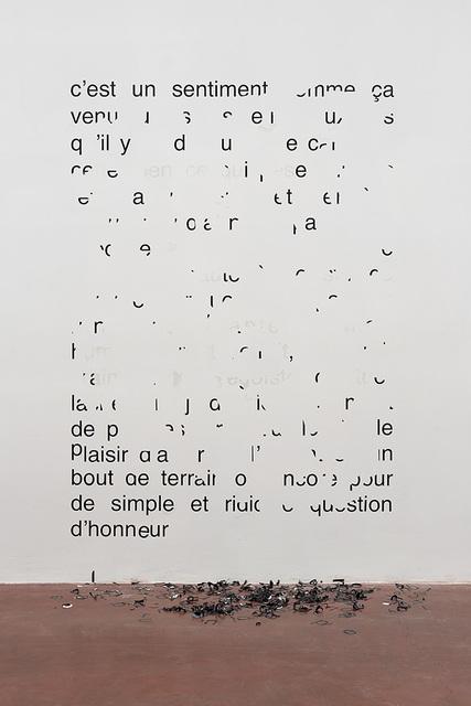 , 'Vendredi 11 août 1989 – C'est un sentiment comme ça ,' 2014, Dvir Gallery
