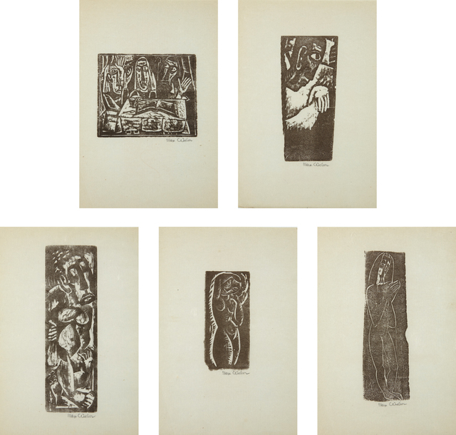 Max Weber, 'Five Prints by Max Weber', 1956, Phillips