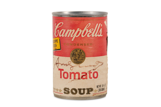 Andy Warhol, 'Campbell's Tomato Soup Tin Signed', 1975, Chiswick Auctions