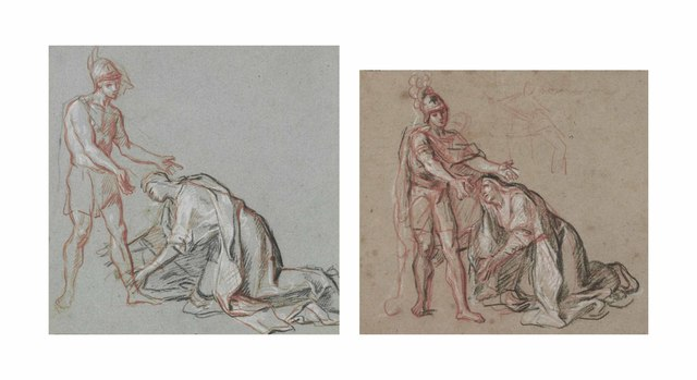, 'Studies of a woman kneeling at the feet of a soldier,' , Christie's Old Masters