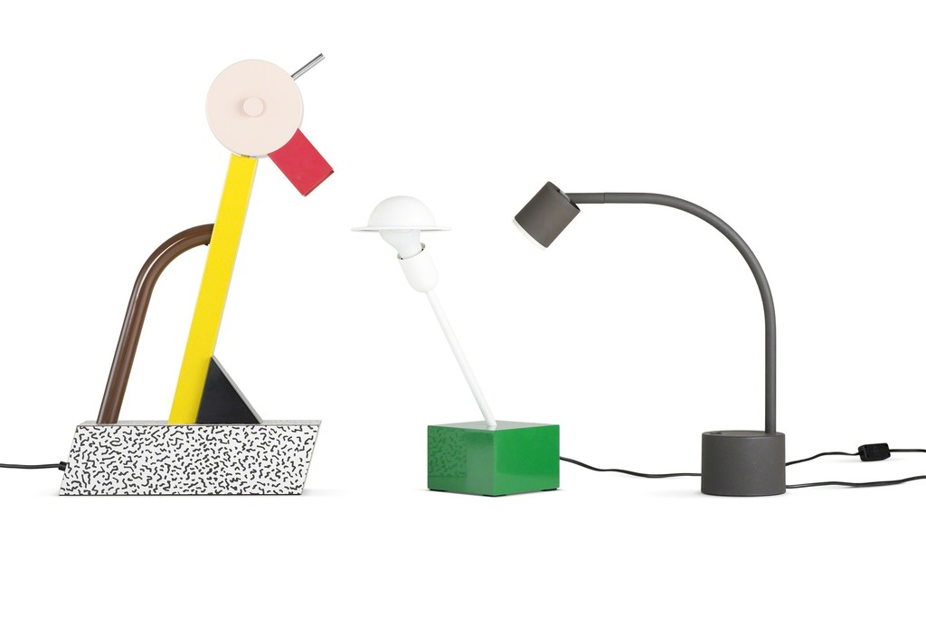Left: Tahiti, table lamp, 1981, Manufacturer: Memphis,