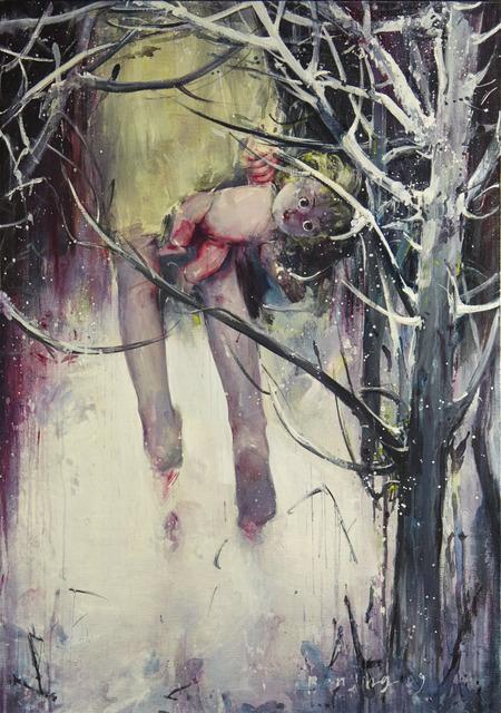 Ren Jing, 'Go Black', 2009, Painting, Oil on canvas, Rudolf Budja Gallery