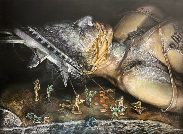 Wal Chirachaisakul, 'Fallen', 2020, Painting, Oil on canvas, AURUM GALLERY