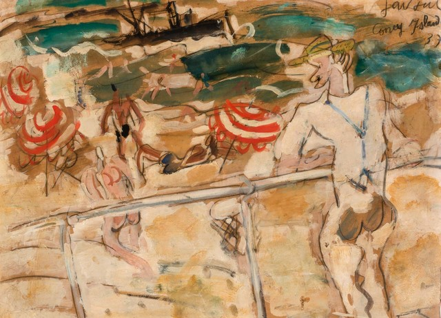 Gen Paul, 'Coney Island', 1937, Painting, Oil and pencil on paper laid down on board, Doyle